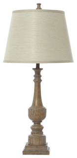 chateau champagne resin wood grain lamp contemporary table lamps other metro by the bowery. Black Bedroom Furniture Sets. Home Design Ideas