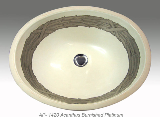 Hand Painted Undermounts By Atlantis Porcelain Traditional Bathroom Sinks