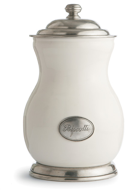 tuscan biscotti canister traditional kitchen canisters