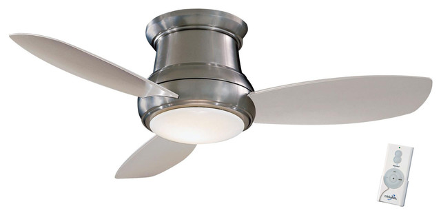 minka aire concept ii flush mount ceiling fan with remote