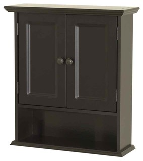 Wall Cabinet in Espresso Finish - Contemporary - Bathroom Cabinets And Shelves