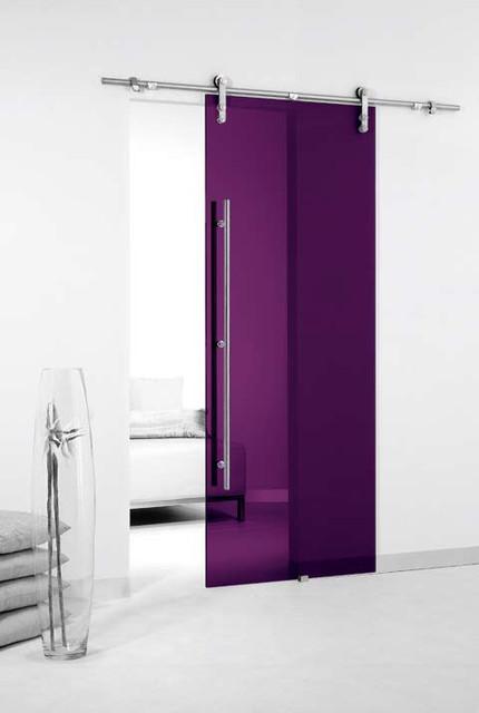 Colored Glass Barn Sliding Door Contemporary By Modernus