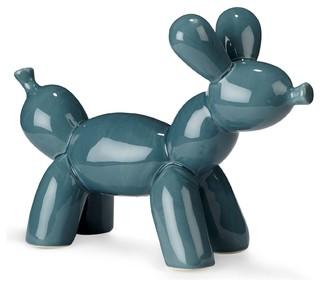 bubble chien d coratif en c ramique bleu contemporain objet d coratif et figurine. Black Bedroom Furniture Sets. Home Design Ideas