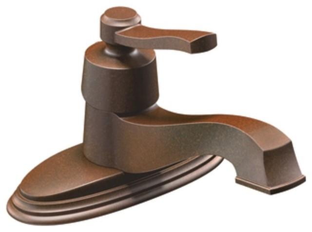 Moen S6202ORB Rothbury Single Handle Centerset Bathroom Sink Faucet With Valv