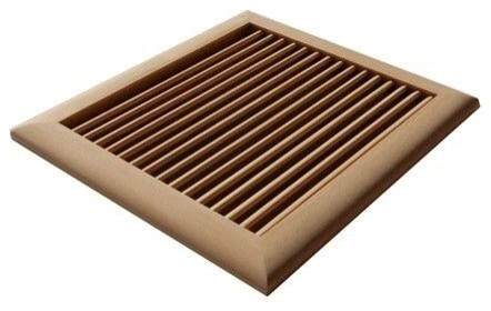 Louvered Solid Wood Wall Ceiling Vents Unfinished Multiple