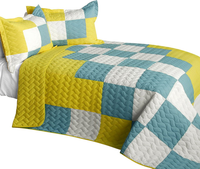 Cute Little Princess 3PC Vermicelli-Quilted Patchwork