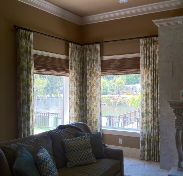 Elegant family room transitional window treatments Elegant window treatment ideas