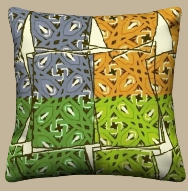 Unique Throw Pillows - Modern - Scatter Cushions - new york - by Ann-dee s Doodles
