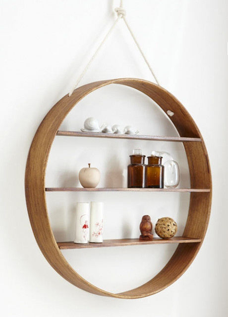 Circle Shelf Contemporary Display And Wall Shelves