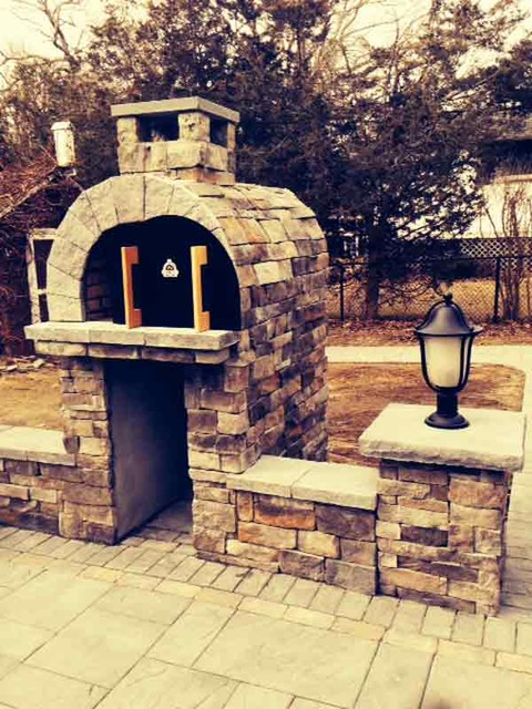 The Ferriola Family Wood Fired Brick Pizza Oven And Fireplace Combo In New York New York By