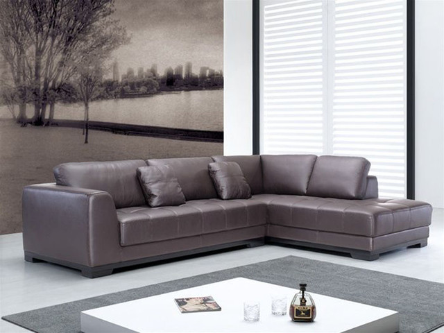contemporary quality leather l shape sectional