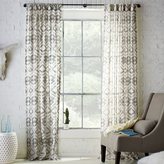 Tali printed window panel eclectic curtains by west elm for West elm window treatments