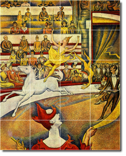 Georges seurat poster art painting ceramic tile mural 40 for Ceramic mural art