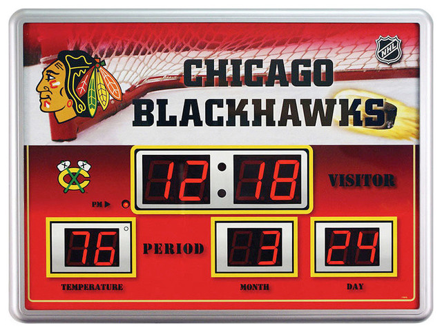NHL Scoreboard Clock - Contemporary - Desk And Mantel Clocks - by Gifted Living