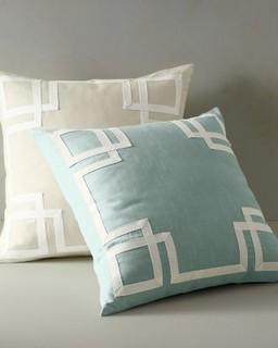 Garnet Hill Mandarin Decorative Pillow Cover - Modern - Scatter Cushions - by Garnet Hill