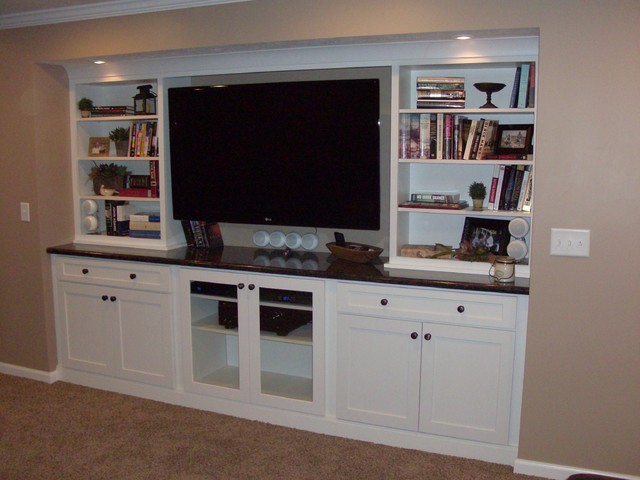 White Cabinets Entertainment Center | Shaker Style | CliqStudios - Minneapolis - by CliqStudios ...
