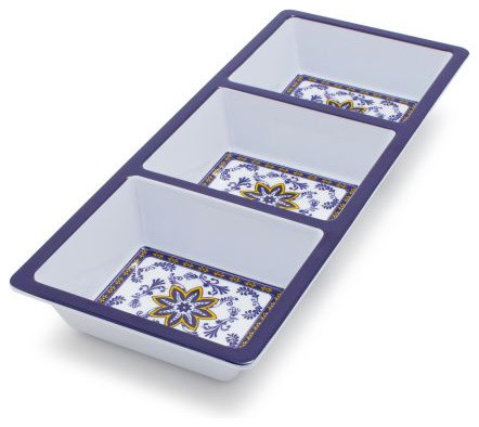 Chef Tim Love Flor Azul Three-Section Dish - Contemporary ...