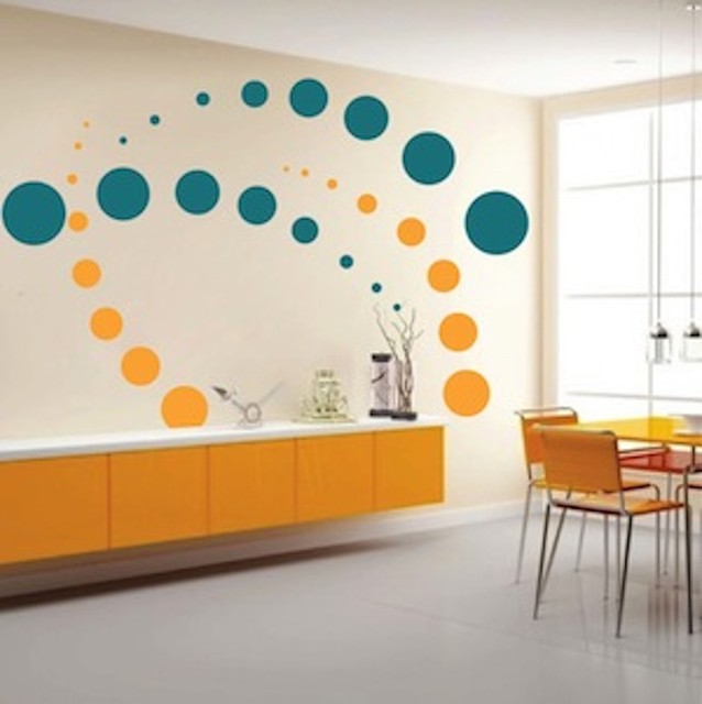 Wall Design Decals wandgestaltung modern wall decal wall design trends 2014 Contemporary Evolution Dots Wall Decal Contemporary Wall Decals