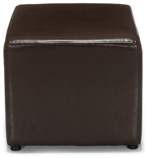 parker pouf carr chocolat contemporain repose pieds pouf et cube par alin a mobilier d co. Black Bedroom Furniture Sets. Home Design Ideas