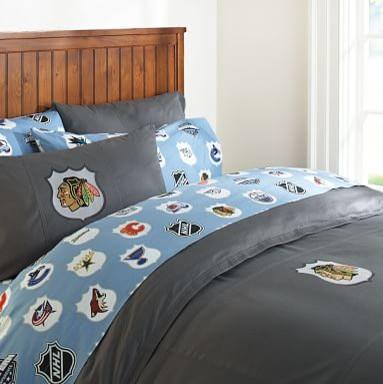 Chicago blackhawks patch duvet cover full queen charcoal for Chicago blackhawk bedroom ideas