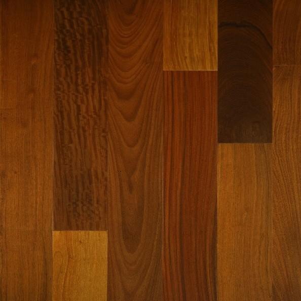 "Solid Brazilian Walnut Hardwood Flooring: Brazilian Walnut Prefinished Solid Wood Flooring 5""x3/4"