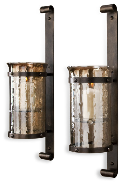 Rustic Candle Sconce