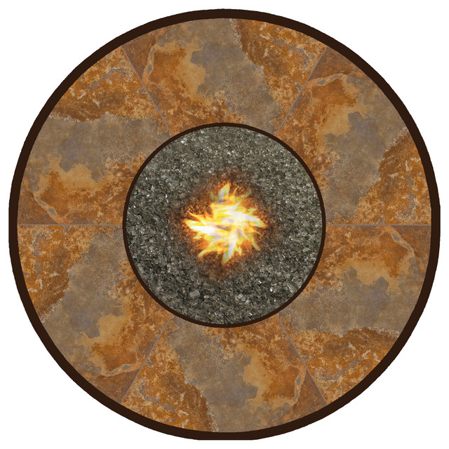 54 Quot Rd Porcelain Hearth Top Eclectic Fire Pits