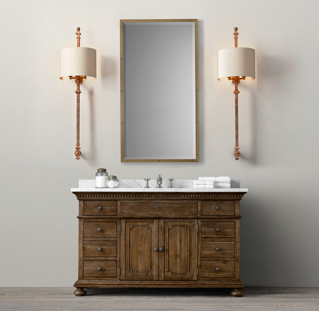 St james vanity sink traditional bathroom vanities and sink consoles by restoration hardware for Bathroom consoles and vanities