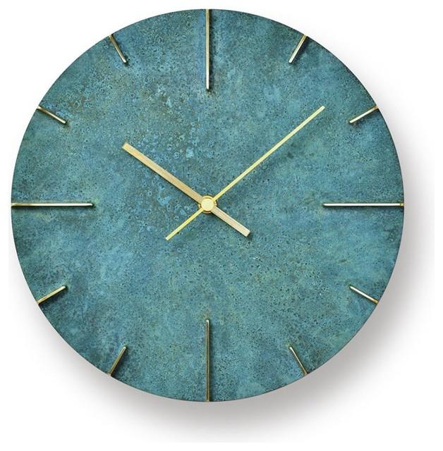 Quaint clock green contemporary wall clocks east for Green wall clocks uk