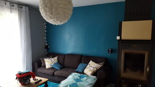 besoins de conseils pour ma cuisine et mon couloir - Salon Bleu Canard Et Gris
