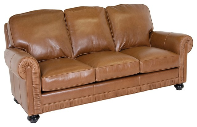 Classic leather furniture chambers sofa traditional for Traditional leather sofas furniture