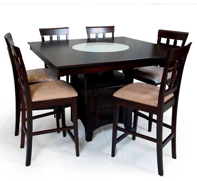 Meja makan contemporary dining tables other metro for Meja kitchen set