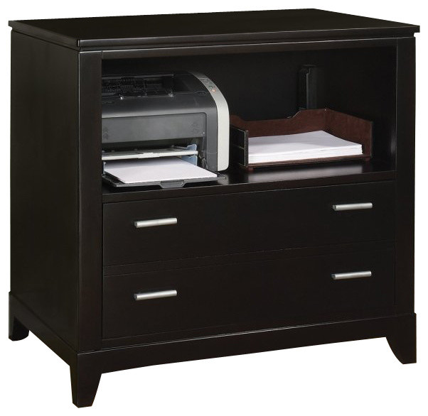 Wynwood Palisade Printer Filing Cabinet in Dark Sable - Transitional - Filing Cabinets - by Cymax