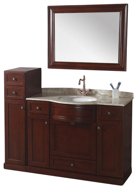 43 inch transitional single sink bathroom vanity transitional bathroom vanities and sink for Single sink consoles bathroom