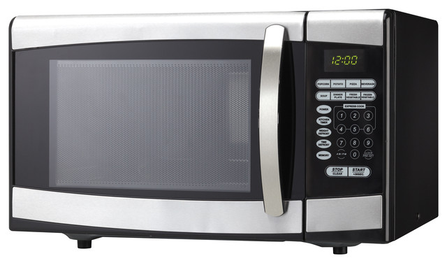 ... .ft. Microwave, Black With Stainess Steel traditional-microwave-ovens