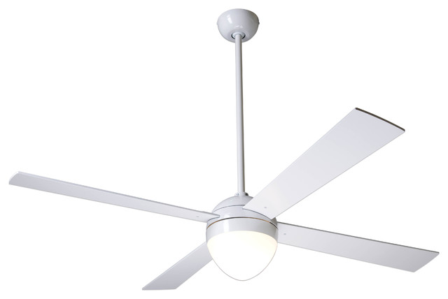 Modern Fan Company Ball Gloss White 42 Ceiling Fan With