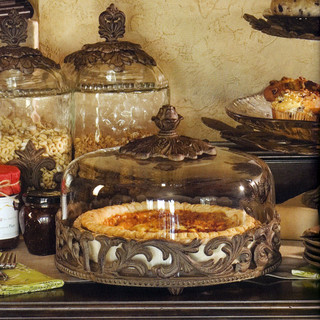 The GG Collection Covered Pie Plate - Mediterranean - Serveware - atlanta - by Iron Accents