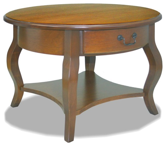Coffee Table In Brown Cherry Finish Contemporary Coffee Tables By Shopladder