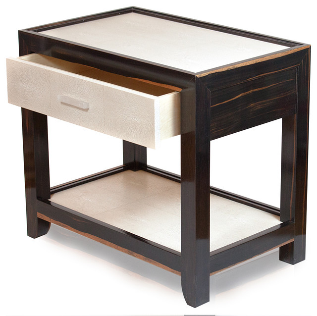 Eclectic Coffee Tables: Skatemoderne Shagreen End Table