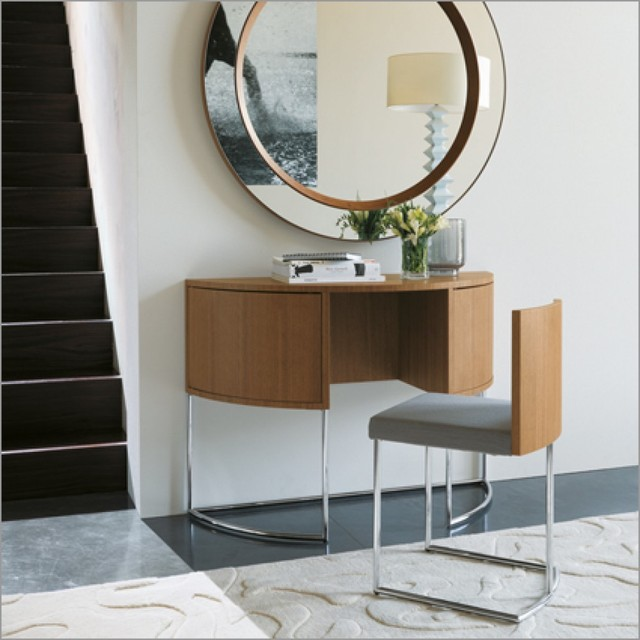 Porada vanity dressing table and chair walnut by g azzarello modern dressing tables by - Modern bathroom dressing table ...