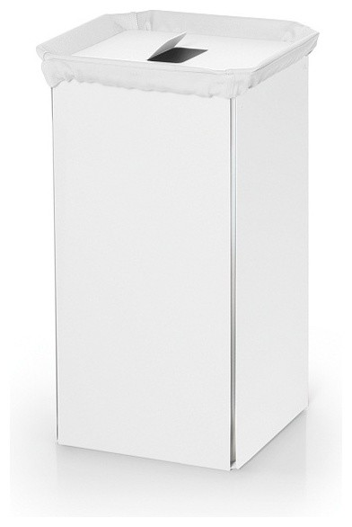 Bandoni 53443 laundry basket white contemporary hampers by modo bath - High end laundry hamper ...