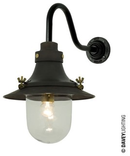 Small Deck Light Wall 7125 Weathered Brass - Industrial - Wall Lights - by Peter Reid Lighting