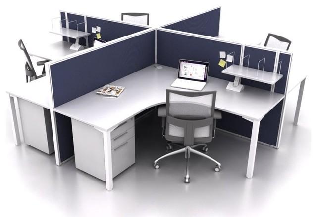 Smart50 4 Person Corner Amp Workstation Modern Desks And
