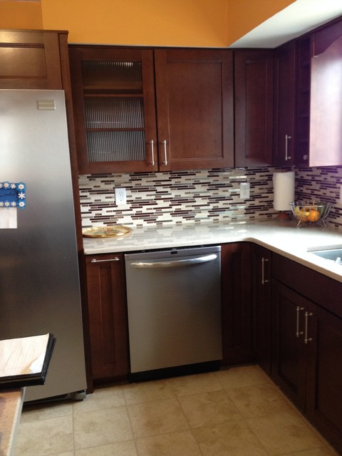 Cherry Kitchen Cabinets Transitional New York By Lowes Of Hamilton Nj