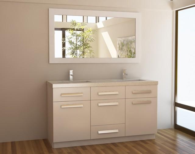 double sink vanity set in white modern bathroom vanities and sink