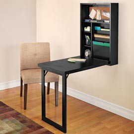 Wall-Mounted Fold-Out Desk - Modern - Desks And Hutches - by Design Solutions