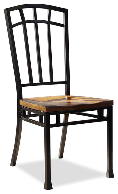 oak hill distressed oak dining chairs pair transitional