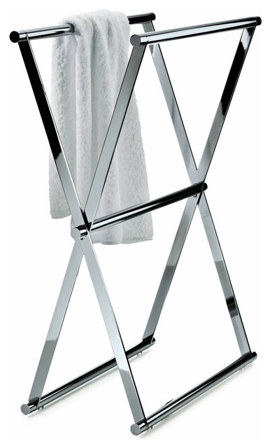Harmony 204 Towel Stand in Chrome - Contemporary - Towel Racks & Stands - by Modo Bath