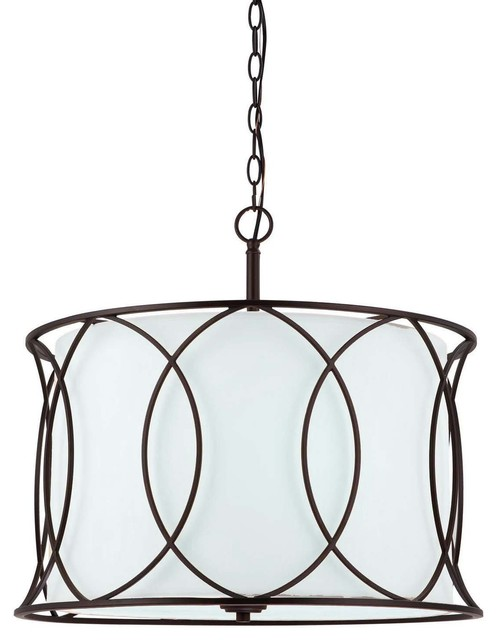 Canarm monica 3 light chandelier oil rubbed bronze for Contemporary chandeliers amazon