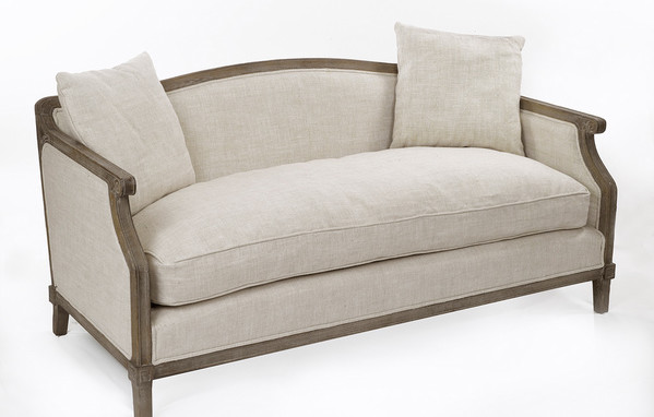 Traditional Sofa Pillows : Gallery Linen Sofa With Pillows - Traditional - Sofas - by Overstock.com